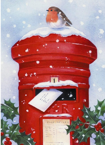Image result for postbox christmas
