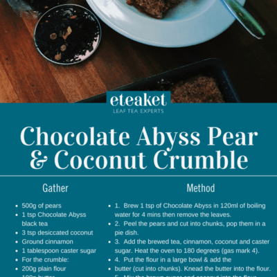 Chocolate Abyss Pear & Coconut Crumble