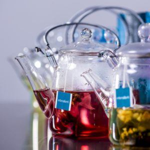 eteaket Flowering Glass Teapot