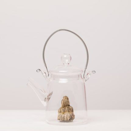 eteaket flowering glass teapot