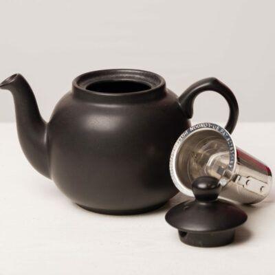 eteaket teapot mat black with infuser