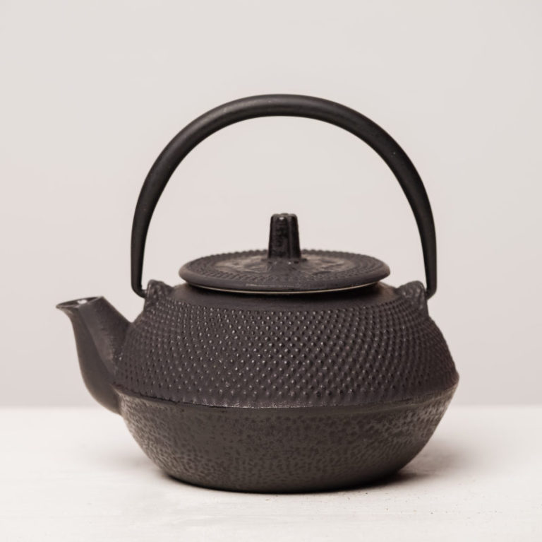 Small Japanese Style Teapot cast iron black