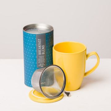 eteaket Morning Glory Gift Set tea with infuser mug