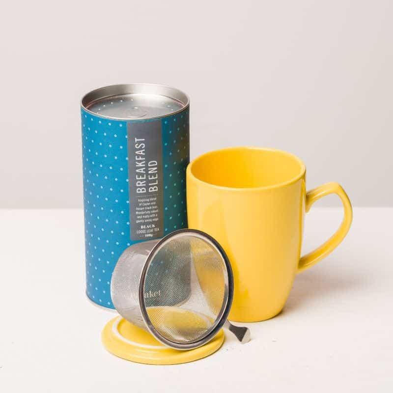 eteaket Morning Glory Gift Set tea with infuser mug