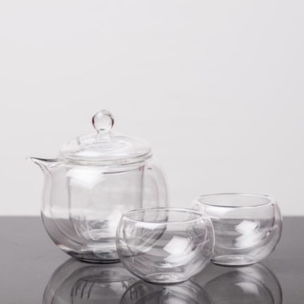 Glass Gaiwan Tea Set Teapot with cups