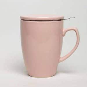 pink infuser mug with lid