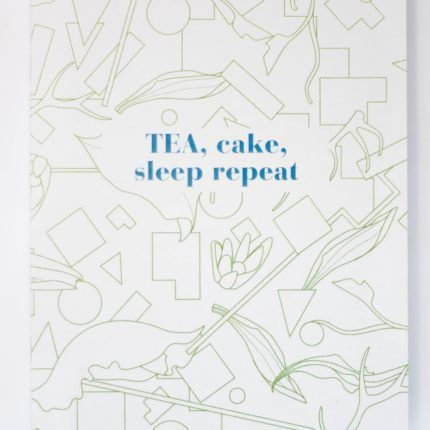 eteaket notebook Tea, Cake, Sleep Repeat Limited Edition exclusive stationery