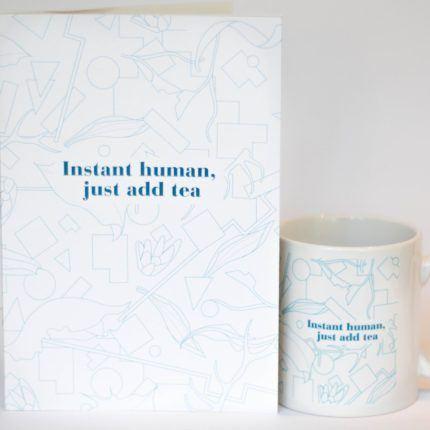 eteaket mug instant human, just add tea limited edition eteaket-exclusive set