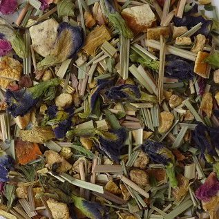 Purple Rain Blue Tea Close-Up