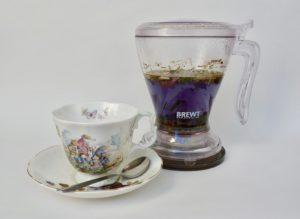 Purple Rain Blue Tea with Magic Press Teapot