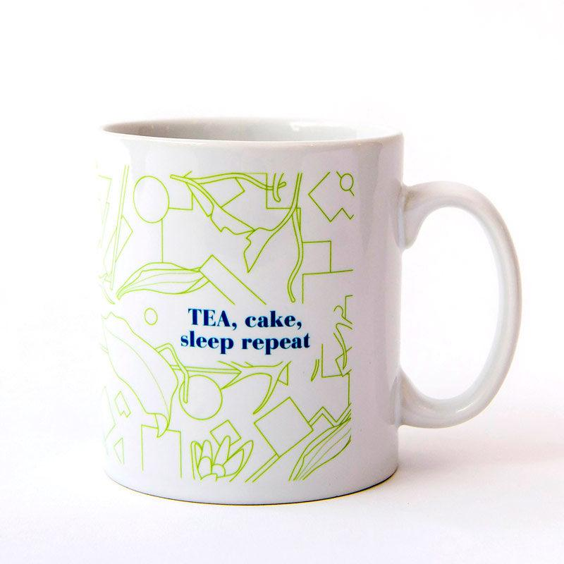 Tea Cake Sleep Repeat Mug