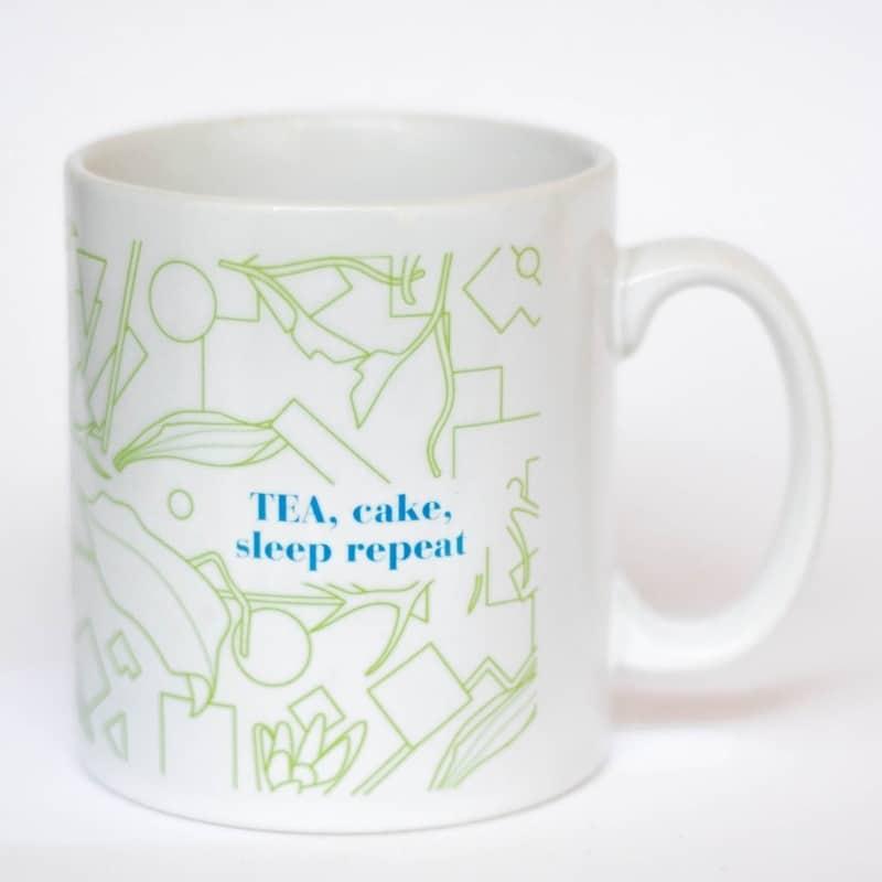 eteaket Mug Tea, Cake, Sleep Repeat