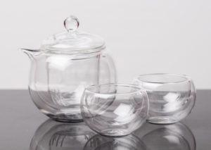 eteaket Glass Gaiwan Set traditional teapot and cups