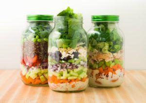 picnic salad in a mason jar