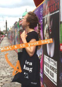 Edinburgh International Festival whats in your bag eteaket