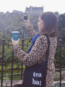 Erica tea with Edinburgh Castle