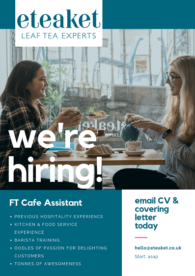 FT Cafe Assistant Job Ad