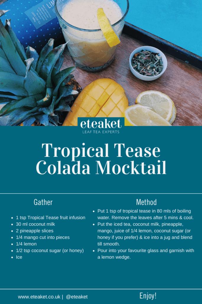 Tropical Tease Colada Mocktail Recipe