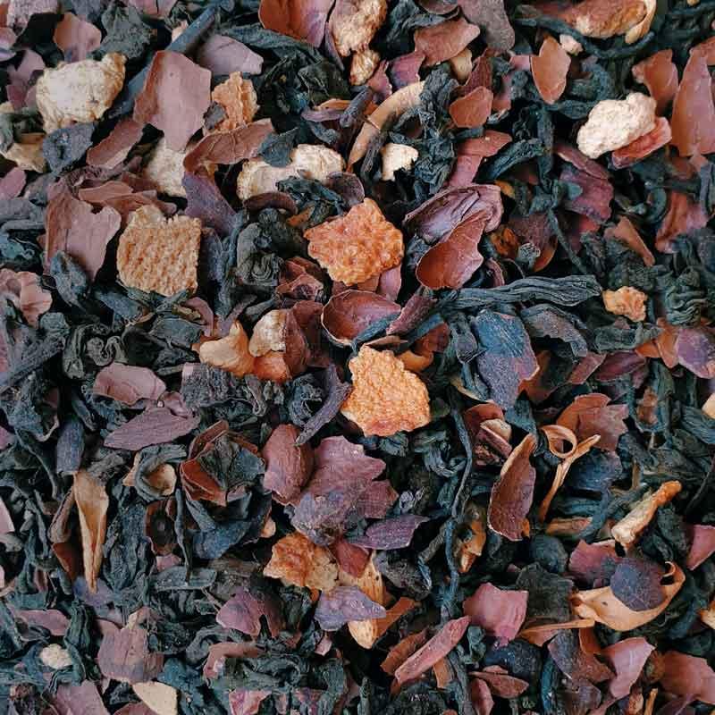 Chocolate Orange Pu'Erh Tea Leaves