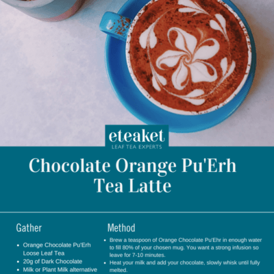 Choc Orange Pu Erh Tea latte