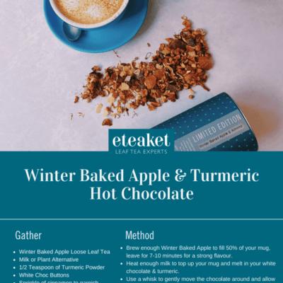 Winter Baked Apple & turmeric Hot Choc