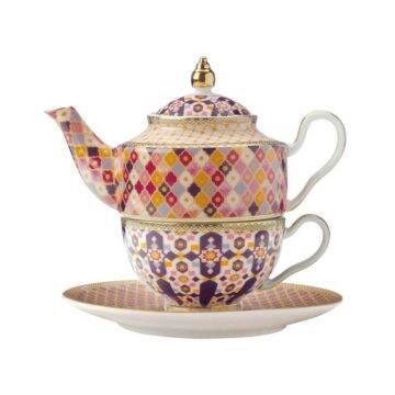 Kasbah tea for one set in pink