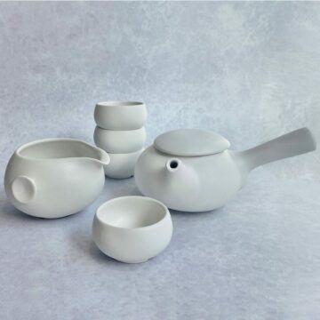 Ceramic White Teapot Set